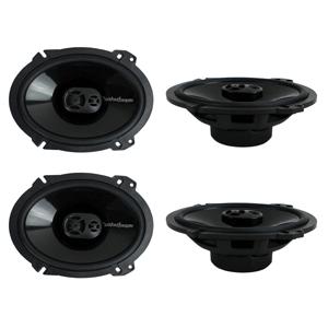 4) New Rockford Fosgate P1683 6x8 260 Watt 3 Way Car Coaxial Speakers Audio