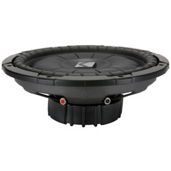 Kicker CVT124 12 inch Single 4 ohm Shallow-Mount CompVT Series Car Subwoofer