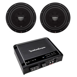 Rockford Fosgate R2SD4-12 12-Inch Shallow Subwoofers with R500X1D Mono Amplifier (Package)