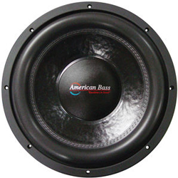 "New -American Bass XFL1244 12"" Dual 4 Ohm Competition Car Stereo Subwoofer"