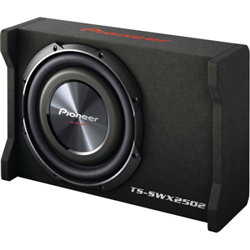 New - PIONEER TSSWX2502 10-INCH SHALLOW-MOUNT PRE-LOADED ENCLOSURE SUB WOOFER