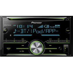 New -Pioneer FH-X731BT 2-Din CD Receiver with Enhanced Audio Functions
