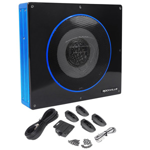 Rockville RW8CA Under-Seat Powered Car Subwoofer
